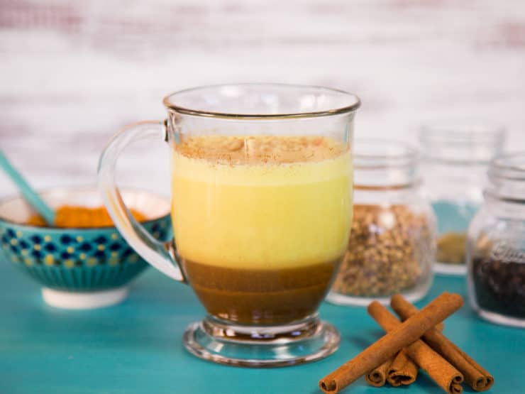 Turmeric Chai Latte - Homemade Chai Extract with Anti-Inflammatory Turmeric. Dairy or Non-Dairy. Make a Sweet, Exotic and Healing Beverage at Home.
