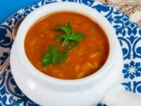 Tomato Rice Soup Pinterest Pin