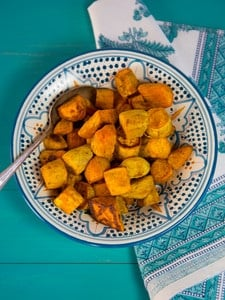 Curry Roasted Sweet Potatoes - Easy, Healthy, Crave-Worthy Vegan Side Dish