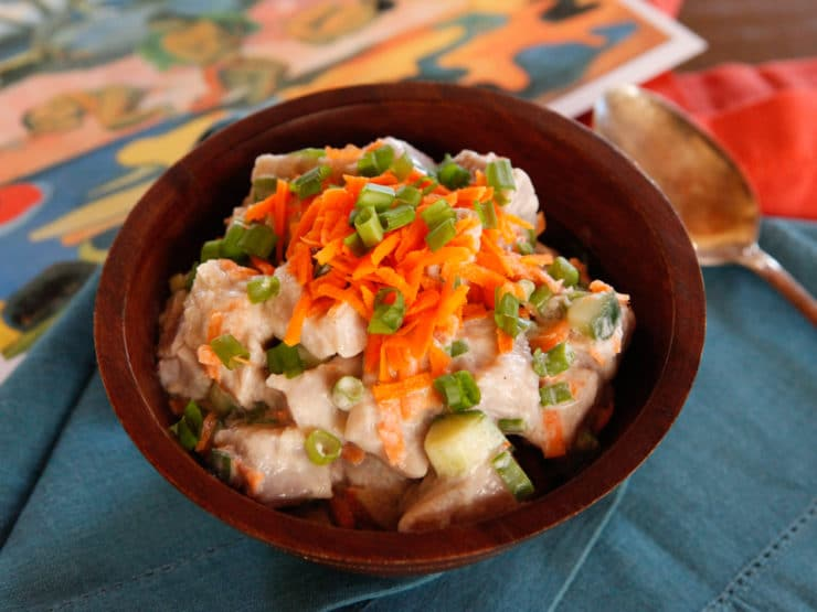 Z Tahitian Recipe for E'ia Ota, Poisson Cru - Fresh Lime-Marinated Fish with Coconut Milk and Vegetables