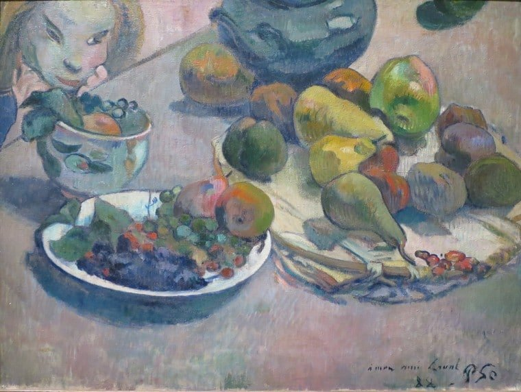 Paul Gauguin - His Life, His Work, His Menus and a Tahitian Recipe for E'ia Ota, Poisson Cru - Fresh Lime-Marinated Fish with Coconut Milk and Vegetables