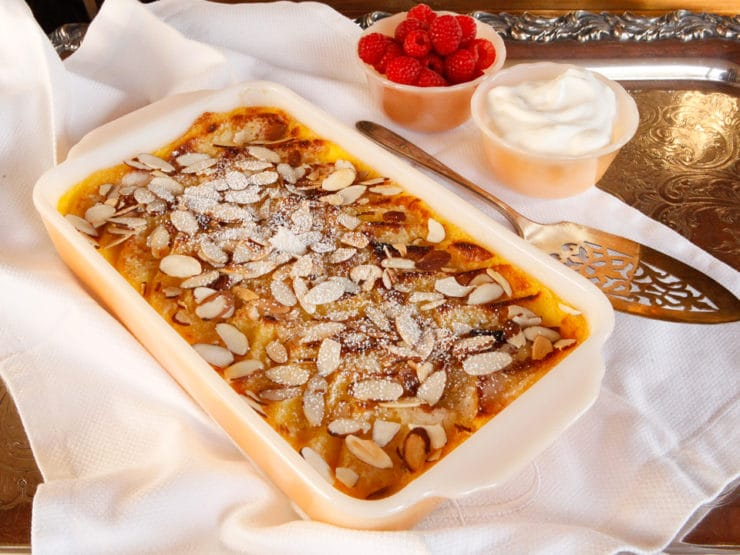 Princess Diana's Favorite Bread and Butter Pudding - Celebrate Diana with her favorite treat, a cross between bread pudding and creme brûlée. A decadent dessert fit for a princess!