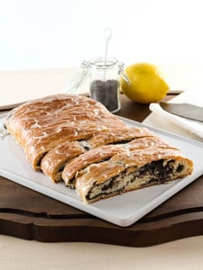Tender, flaky yeast bread with poppy seed filling and a sweet lemon glaze. Time-tested family recipe from site contributor Kelly Jaggers.