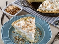 Coconut Cream Pie – Flaky All-Butter Crust Filled with Coconut Cream and Topped with Lightly Sweetened Whipped Cream and Toasted Coconut. Nostalgic, Family-Inspired Recipe.