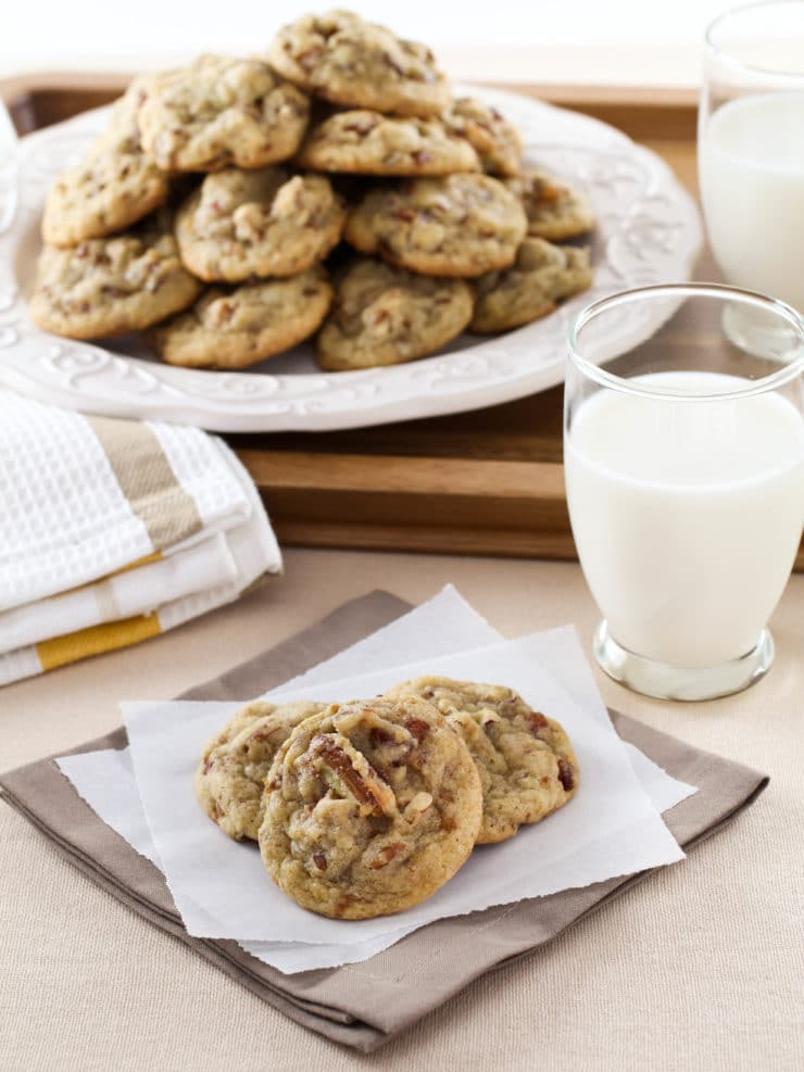 Date Cookies - Butter cookies with gooey dates and toasted pecans. Time-Tested Family Recipe from Kelly Jaggers.