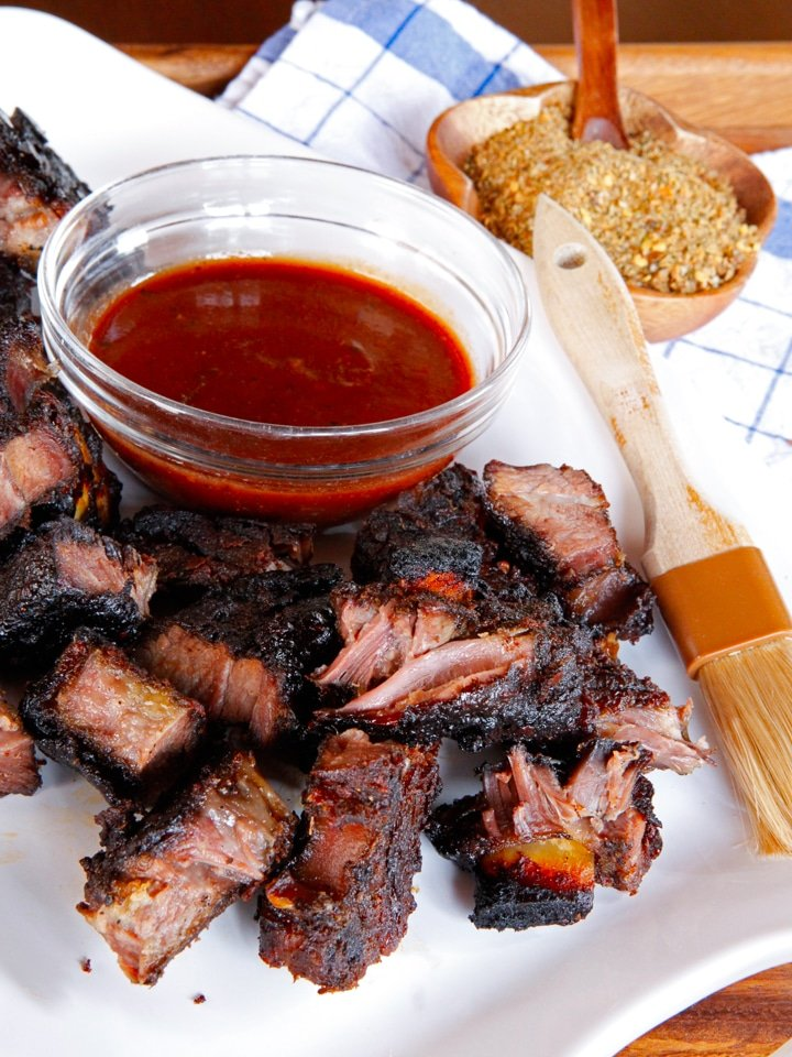 Corky's Oven Barbecued Short Ribs - Flanken-Cut Beef Ribs Dry-Rubbed with a Spicy Seasoning Blend, Slow Roasted with Sauce to Tender-Crisp Perfection
