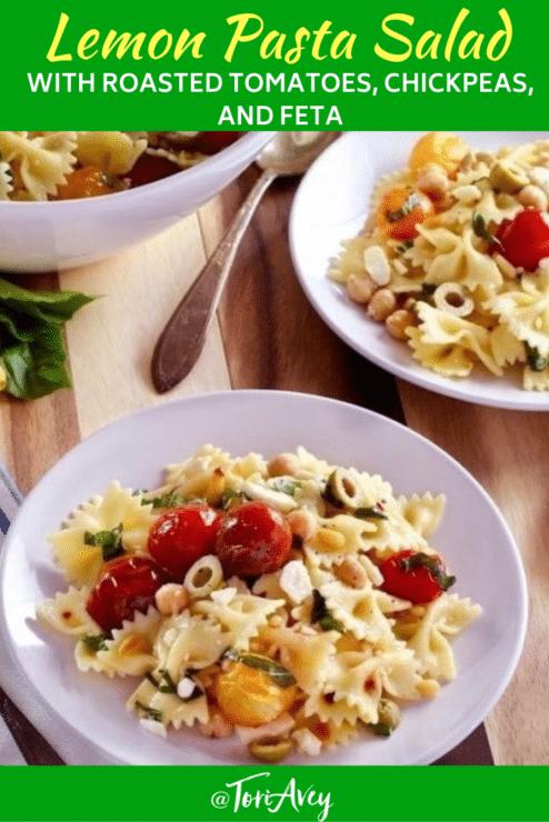 Lemon Pasta Salad Pinterest Image