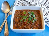 Dal Bukhara - Beluga Lentils in Creamy Tomato Curry from the Aarti Paarti Cookbook