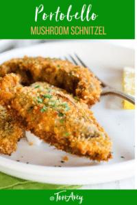 Portobello Mushroom Schnitzel Pinterest Image