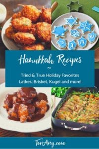 Hanukkah Recipes - Pinterest Pin on ToriAvey.com