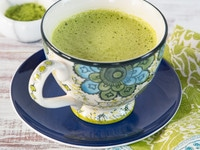 Matcha Green Tea Latte Recipe - Japanese-Inspired Latte with Healthy Green Tea and Dairy or Non-Dairy Milk.