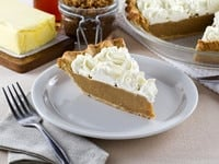 Butterscotch Pie - Lightly Sweetened Crust filled with Buttery, Caramelized Butterscotch Custard. Nostalgic, Family-Inspired Recipe.