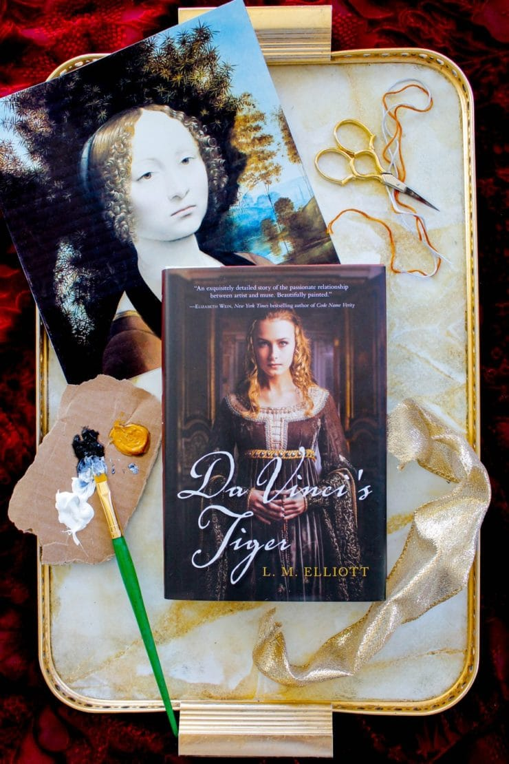 Tori's Bookshelf - Da Vinci's Tiger by L.M. Elliott. A historical YA novel about Leonardo Da Vinci's muse.