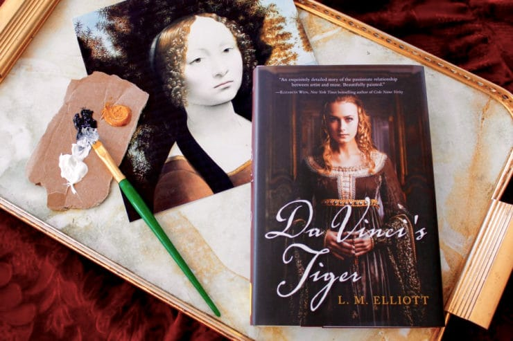 Tori's Bookshelf - Da Vinci's Tiger by L.M. Elliott - A Historical YA Novel About Leonardo da Vinci's Muse