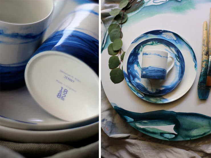 A behind-the-scenes look at Deborah Allen's artistic bone china line from 1882 Ltd.
