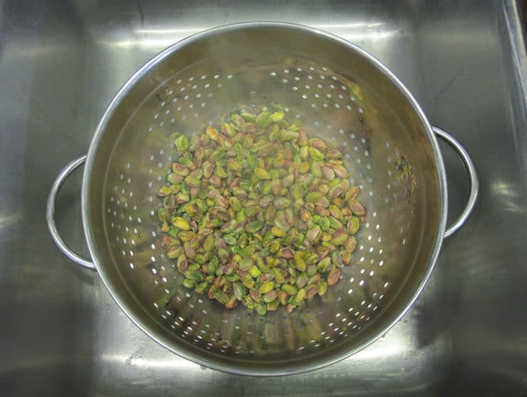 How to Skin Pistachio Nuts - Easy Method for Removing Skin from Pistachios on ToriAvey.com