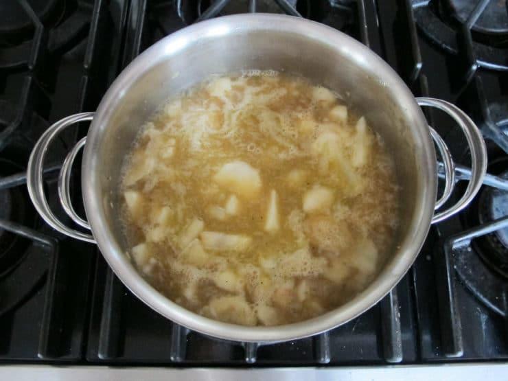 Jerusalem Artichoke Soup - Easy Creamy Soup Puree with Chestnut Garnish