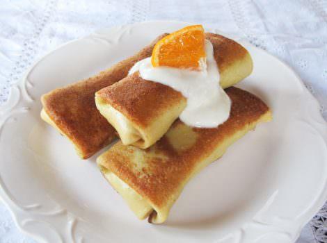 Citrus Vanilla Blintzes