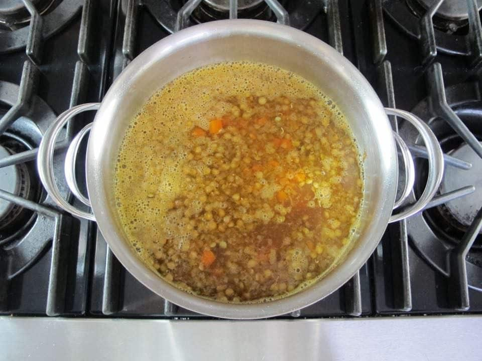 Lentil Spinach Soup with Lemon - Healthy Recipe
