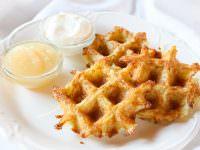 Latke Waffles - Crispy Shredded Potato Waffle Recipe