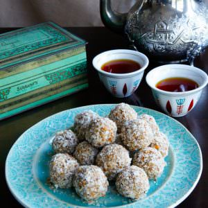 Date Almond Truffles - All Natural Bite-Sized Treats Flavored with Orange Blossom