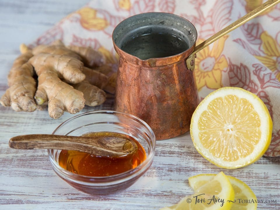 Lemon Ginger Cider Vinegar Infusion - Warm Healthy Morning Beverage