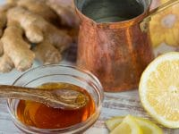 Morning Lemon Ginger Infusion - Warm Beverage of Ginger, Apple Cider Vinegar, Fresh Lemon Juice and Honey