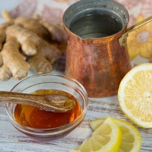 Morning Lemon Ginger Infusion - Warm Beverage of Ginger, Apple Cider Vinegar, Fresh Lemon Juice and Honey