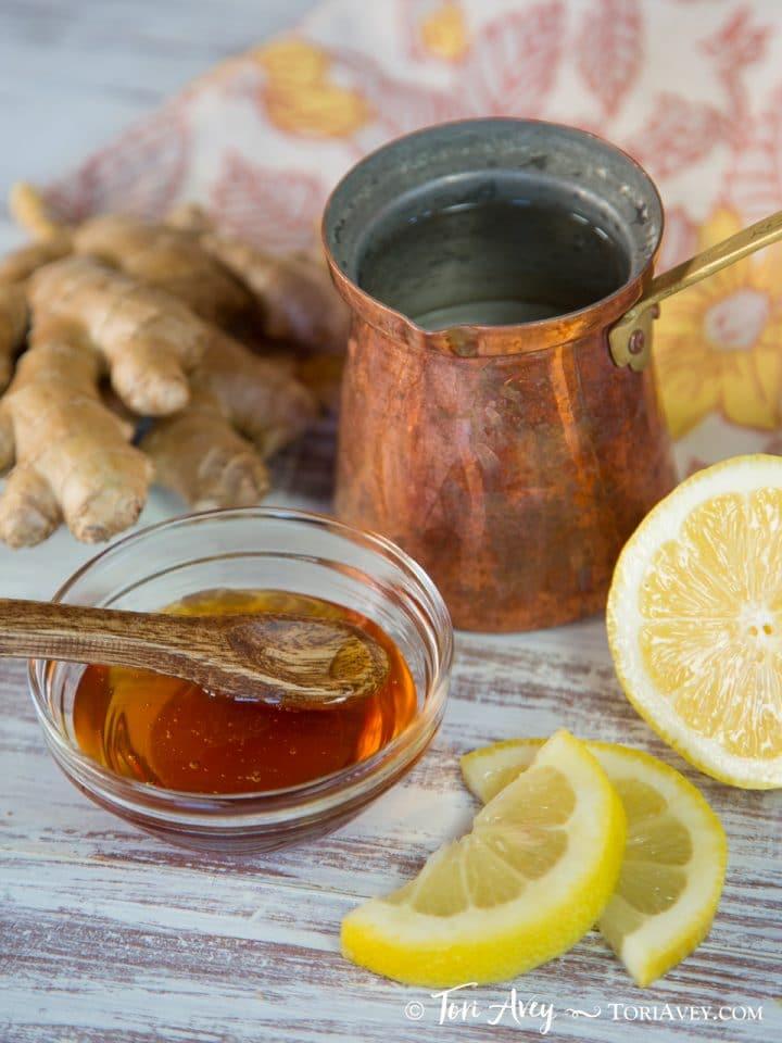 Lemon Ginger Cider Vinegar Infusion - Warm Healthy Morning Beverage