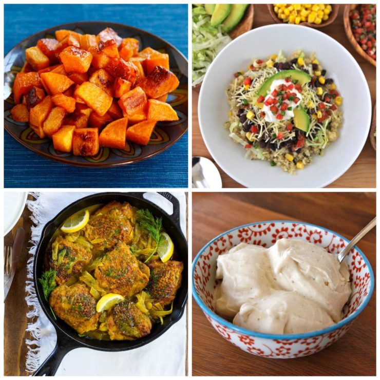 Easy Healthy Recipes for January - Quick, Tasty and Nutritious Cooking for the New Year, Including Vegetarian, Vegan and Gluten Free Options.