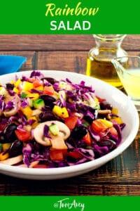 Rainbow Salad Pinterest Pin