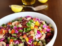 Rainbow Israeli Salad on ToriAvey.com