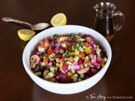 Rainbow Israeli Salad