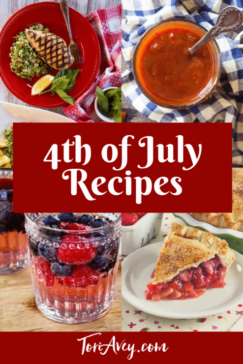4th of July recipes Pinterest Image