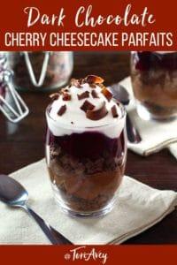 Dark Chocolate Cherry Cheesecake Parfaits Pinterest Pin on ToriAvey.com
