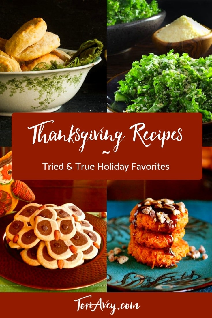Thanksgiving Recipe Roundup | ToriAvey.com - Favorite Holiday Recipes, Including Appetizers, Entrees, Desserts and Cocktails. Vegetarian, Vegan and Gluten Free Options. #Thanksgiving #ThanksgivingRecipes #ThanksgivingRecipeRoundup #RecipeRoundup #turkey #stuffing #pie #pumpkinpie #Thanksgivingdessert #dressing #VeganThanksgiving #VegetarianThanksgiving #vegan #vegetarian #GlutenFreeThanksgiving #glutenfree #Thanksgivingsidedishes #sidedishes #autumnrecipes #holidayrecipes #veganholidayrecipes #vegetarianholidayrecipes #glutenfreeholidayrecipes