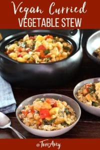 Curried Vegetable Stew Pinterest Pin on ToriAvey.com