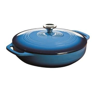Enameled Cast Iron Covered Casserole, 3.6-Quart