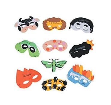 Passover Plague Masks for Seder or Learning