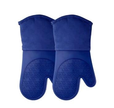 Silicone Oven Mitts with Cotton Lining