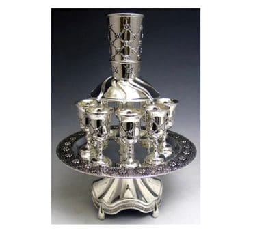 Silver Plated Kiddush Wine Fountain
