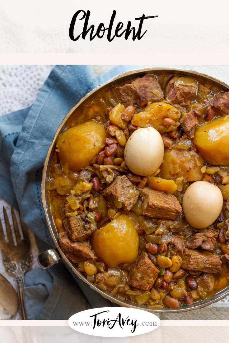 Cholent Pinterest Pin on ToriAvey.com