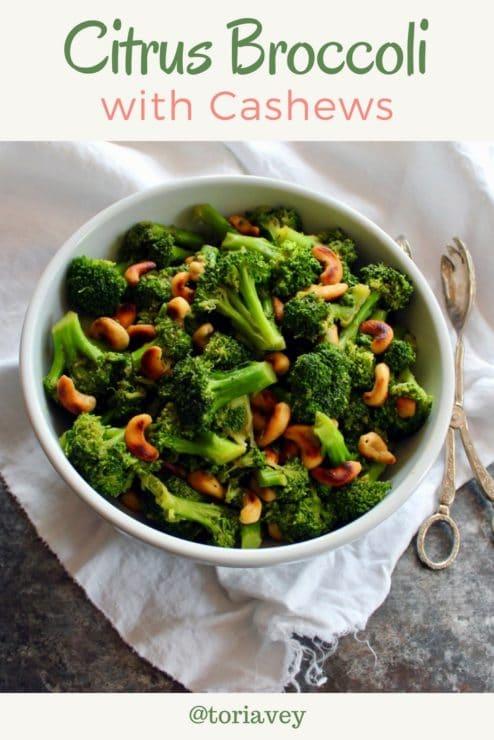 Citrus Broccoli with Cashews Pin