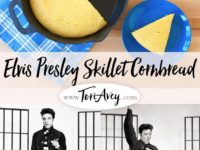 What Elvis Ate: Buttermilk Skillet Cornbread Pinterest Pin on ToriAvey.com
