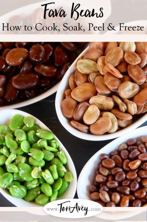 Fava Bean Tutorial Pinterest Pin on ToriAvey.com
