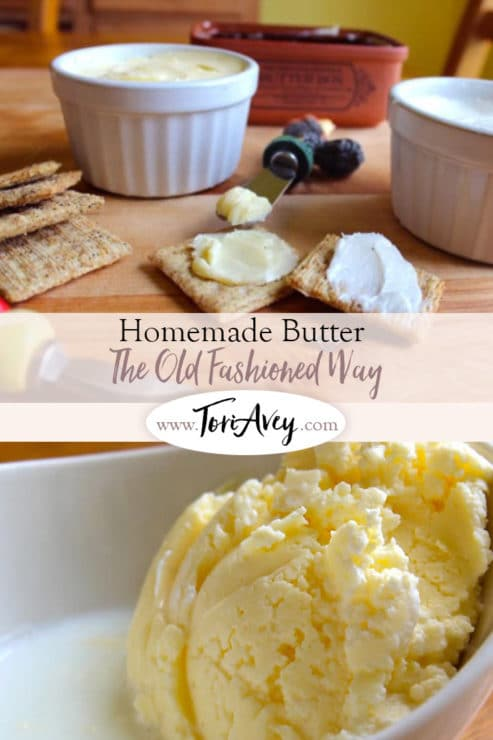 Old Fashioned Homemade Butter Pinterest Pin on ToriAvey.com