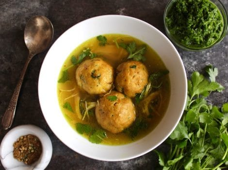 Yemenite-Style Matzo Ball Soup