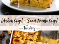 Sweet Lokshen Kugel Pinterest Pin on ToriAvey.com