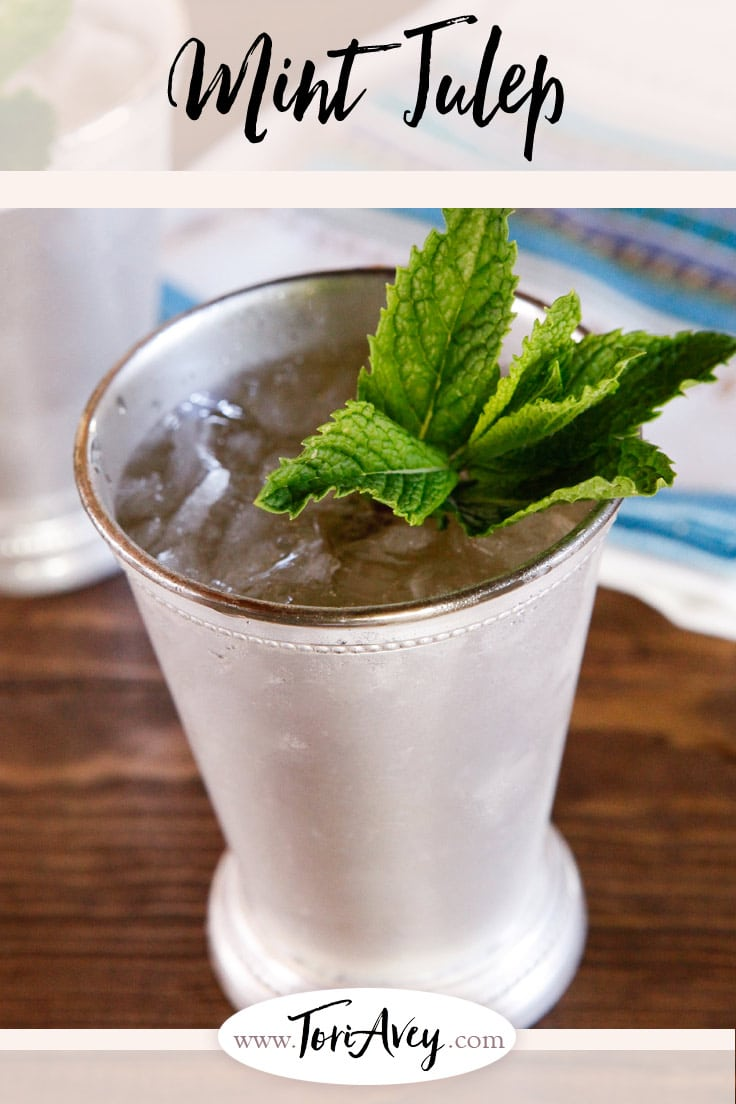 History of the Mint Julep - A history of the mint julep cocktail, a favorite southern cocktail served each year at the Kentucky Derby. | ToriAvey.com #mintjulep #cocktail #Kentuckyderby #TorisKitchen