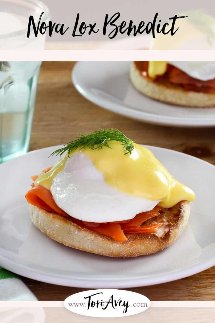 Nova Lox Benedict - Learn to make Eggs Benedict with Nova lox salmon, poached eggs, and easy homemade lemony hollandaise sauce. Breakfast, brunch, brinner. | ToriAvey.com #hollandaise #eggsbenedict #brunch #breakfast #TorisKitchen